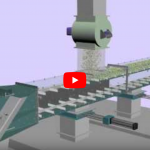 Schenck Process: Chain Conveyor T-Belt MoveMaster Transporting Material in Two Directions